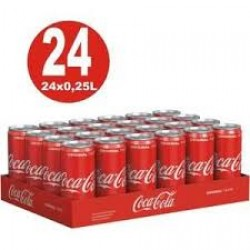 1. COCA COLA CANETTE  33CL PACKS 24
