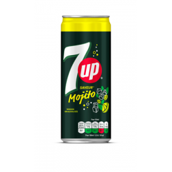 4 seven up mojito canettes  33cl packs 24