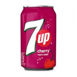 4 seven up chrry canettes  33cl packs 24